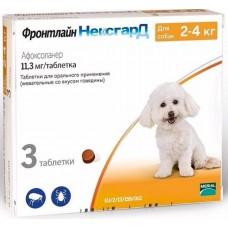 Фронтлайн НексгарД S (2-4 кг уп., 3 табл) защита собак от клещей и блох Merial - Boehringer