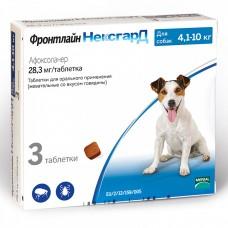 ФРОНТЛАЙН НЕКСГАРД M (3 таб. 4 - 10 кг) защита собак от клещей и блох Merial - Boehringer