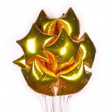 Букет из фольгированных шаров с гелием Звезды 10шт