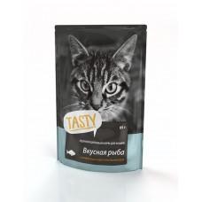 Aller Petfood Tasty - влажный корм для взрослых кошек с рыбой, 85г*25 шт