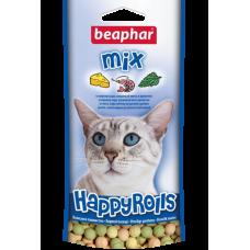 Beaphar Happy Rolls Mix - Лакомство для котов с креветками, сыром, мятой в виде шариков, 80 табл. (арт. DAI10574)