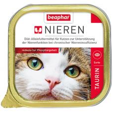 BEAPHAR Kidney diet Taurin - полнорац. диет. корм для кошек с хрон. почеч. недостат., 100 г (с курицей и таурином) (арт. DAI10900)