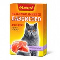 Amstrel Лакомство мультивитаминное для кошек Норвежский лосось 90 табл