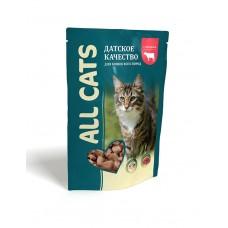 Aller Petfood All Cats - влажный корм для взрослых кошек с говядиной, 85г*25 шт