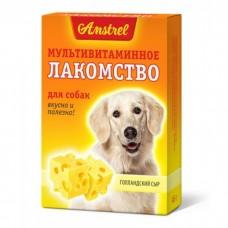 Amstrel - Лакомство мультивитаминное для собак Голландский сыр 90 табл