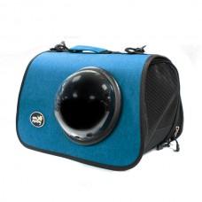 Сумка-переноска для кошек Modern style M, синяя с иллюминатором 26*40*26 см. (арт. TYZ СП17)