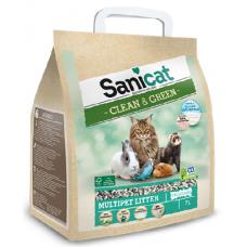 Наполнитель Sanicat Clean & Green Cellulose впитывающий для птиц из целлюлозы