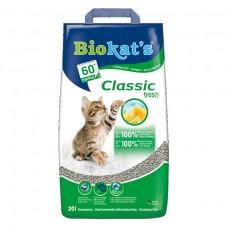 Biokat's Classic Fresh 3 в 1 -крупнозернистый комкующийся бентонитовый наполнитель с ароматом весенних трав