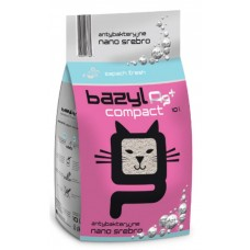 BAZYL Compact Fresh наполнитель для кота комкующийся с ионами серебра из бентонита
