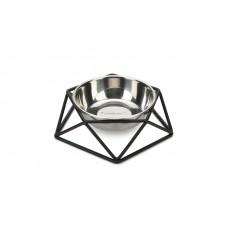 Beeztees Миски д/собак Puroni черная 350 ml, 19x19x5,7 cm (арт. ВЕТ650706)