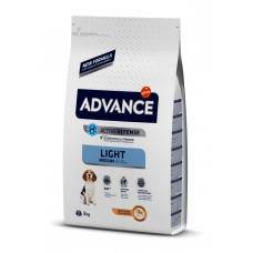 Advance Light Medium - корм для собак средних пород склонных к полноте, курица рис