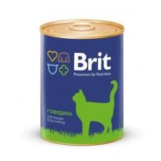BRIT BEEF - консервы для кошек Говядина - 340 г (арт. 9457)