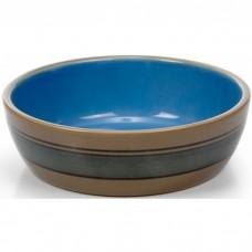 Beeztees Миска д/кошек керамическая с синими полосками 12,5 см