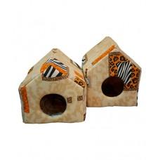 Cat House домик для собаки мягкий, поролон+хб (съемный 2-х сторонний матрац) (несколько размеров)
