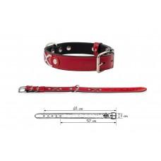 Redplastic Ошейник «Брайт-Опцион» 2 слоя, 48-60см*30 мм, красный (арт. 710631)