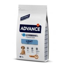 Advance Light Mini - сухой корм для взрослых собак мелких пород склонных к лишнему весу, курица и рис