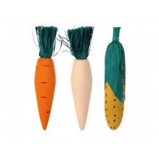 Beeztees Игрушка д/грызунов деревянные овощи, 11 см (арт. ВЕТ825214)