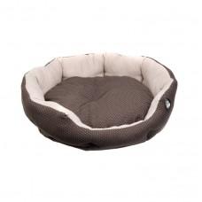 Comfy Pati круглый лежак для кошек коричневый с бортом