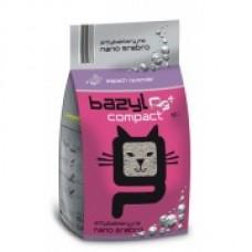 BAZYL Compact Lavender - кошачий наполнитель комкующийся лавандой с ионами серебра, бентонитовый
