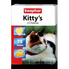 Beaphar Kitty's + Cheese (Mause) - витамин. лакомство д/кошек со вкусом сыра, 75 табл. (арт. DAI12511)