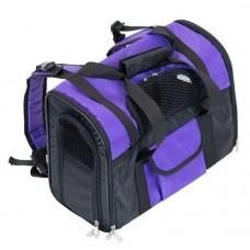 Рюкзак-переноска для кошек №2 ECO модель Hike 29*43*21 см. (карман, нейлон, пластик), фиолетовый