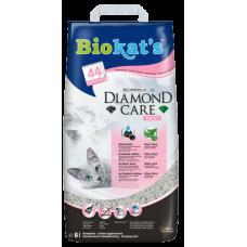 BIOKAT'S Diamond Care Fresh - комкующийся бентонитовый наполнитель с активированным углем, алое вера, с ароматом детской присыпки