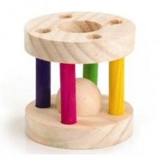 Beeztees Игрушка д/грызунов деревянный барабан 8*7 см (арт. ВЕТ811040)
